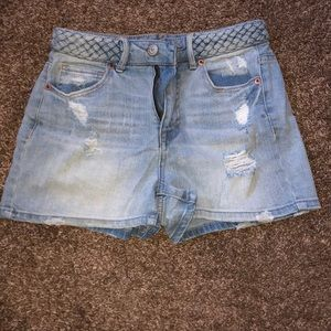 Girls high waisted shorty shorts